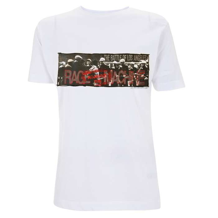 Riot Police – White Tee - Rage Against the Machine