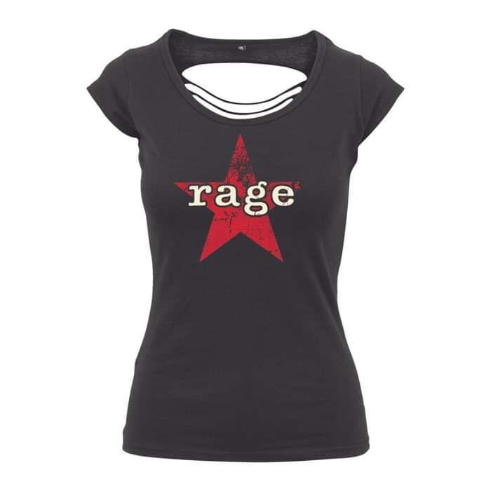 Vintage Rage Star – Womens Back Cut Tee - Rage Against the Machine