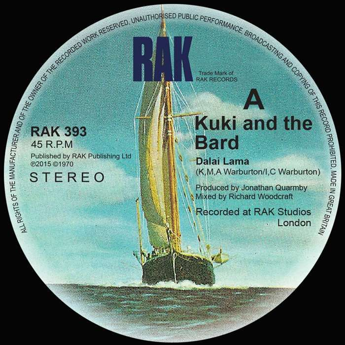 "Kuki & the Bard - Dalai Lama / Journey - 7"" Vinyl - RAK"