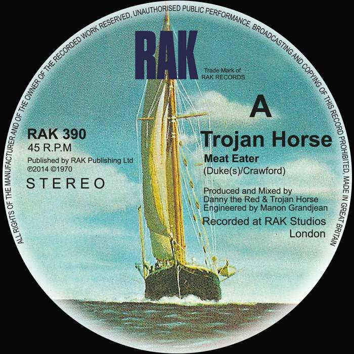 "Trojan Horse - Meat Eater / Dance With The Devil - 7"" Vinyl - RAK"