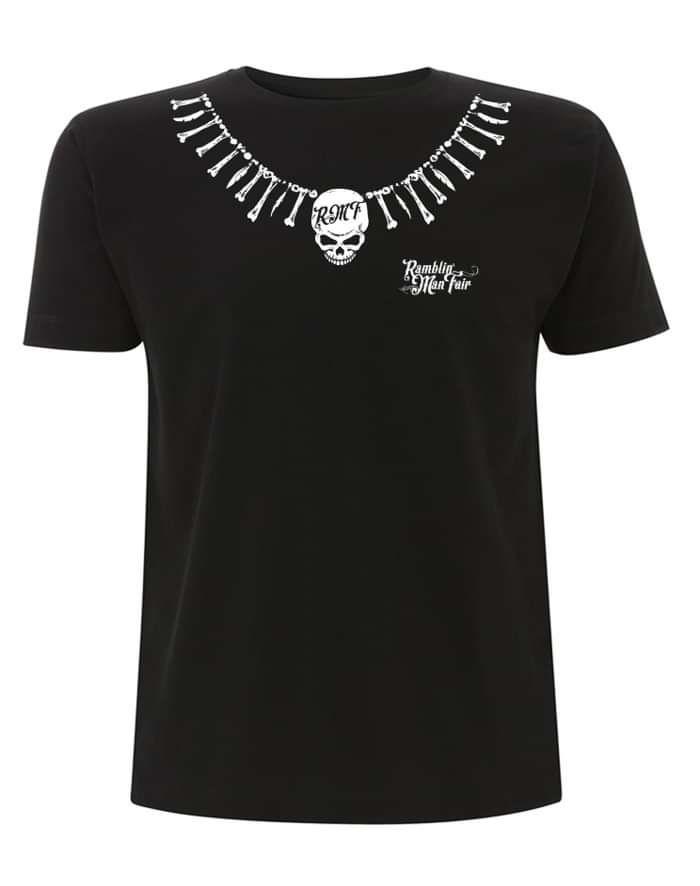Black RMF Bones Necklace T - Ramblin Man Fair