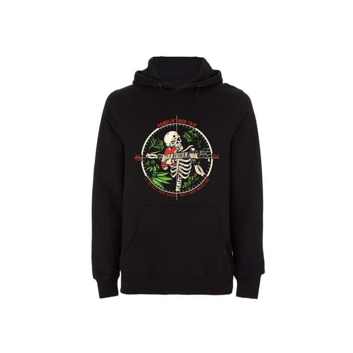 Black RMF Skeleton Crosshairs Pullover Hoodie - Ramblin Man Fair