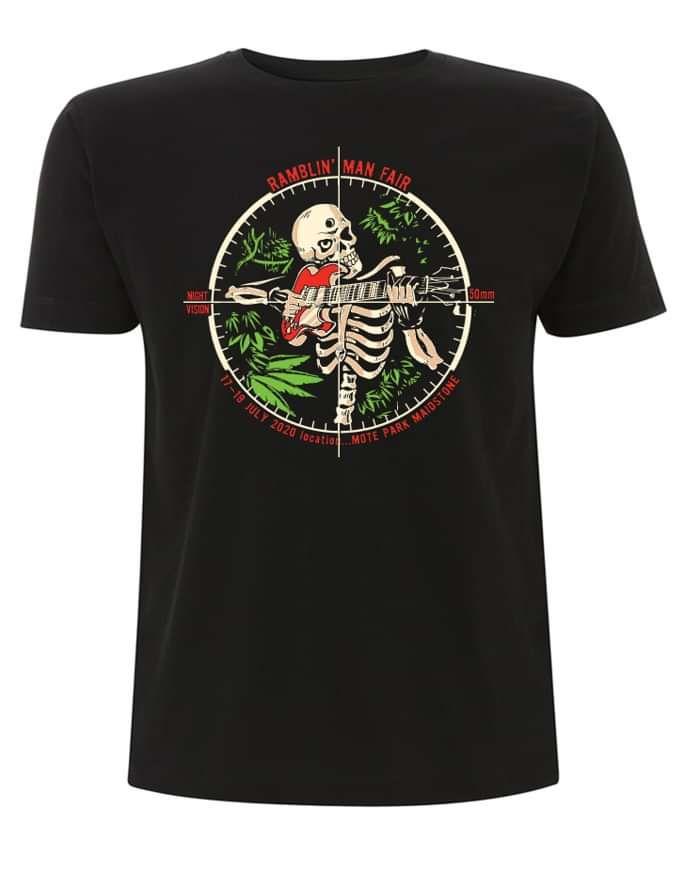 Black RMF Skeleton Crosshairs T - Ramblin Man Fair