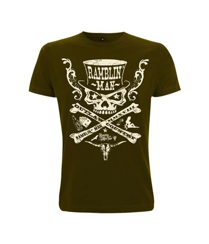 Khaki Unisex Outlaw T-Shirt - Ramblin Man Fair