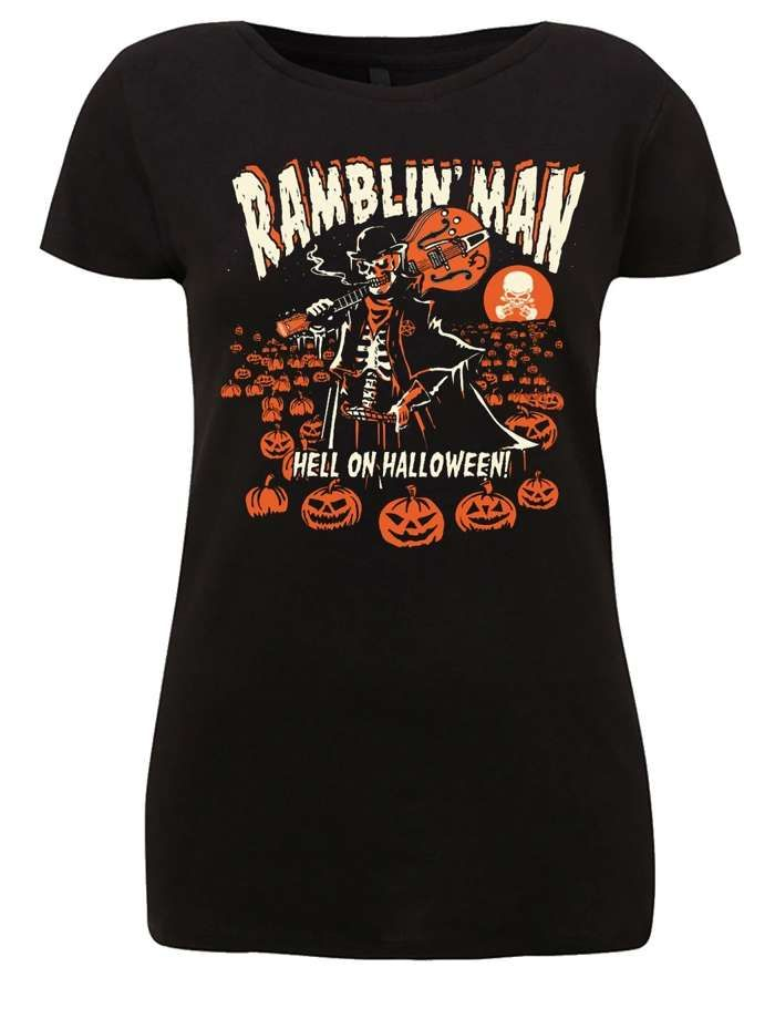 Ladies Blk RMF Halloween T - Ramblin Man Fair