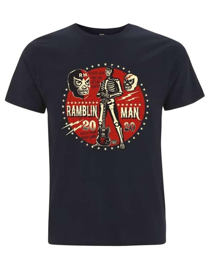 Navy RMF Wrestler T - Ramblin Man Fair