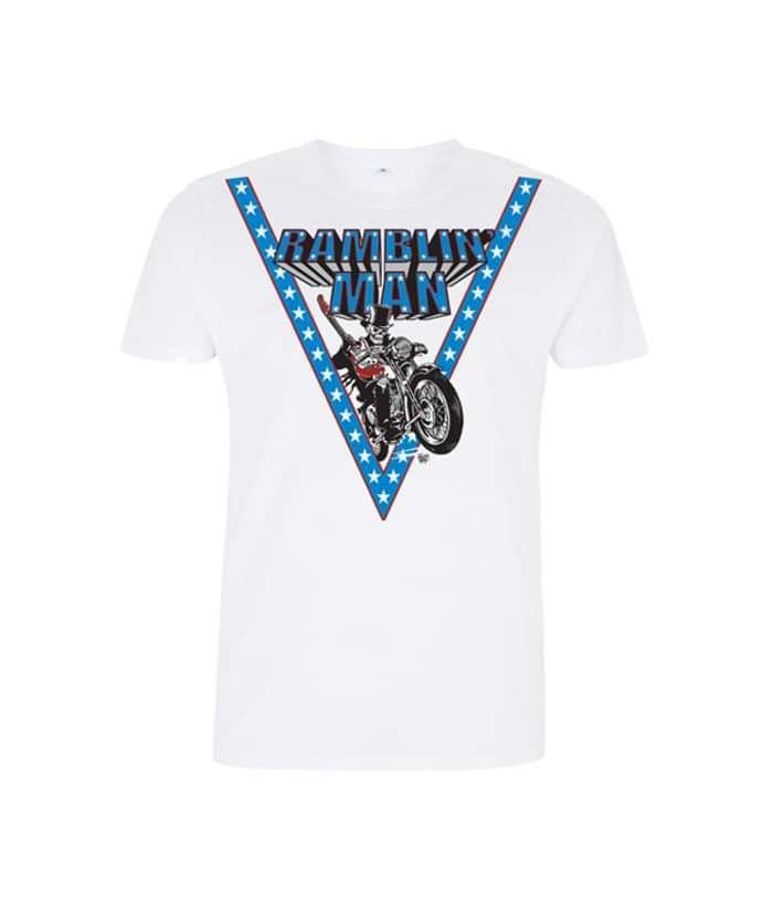 Wht Unisex Knievel T-Shirt - Ramblin Man Fair