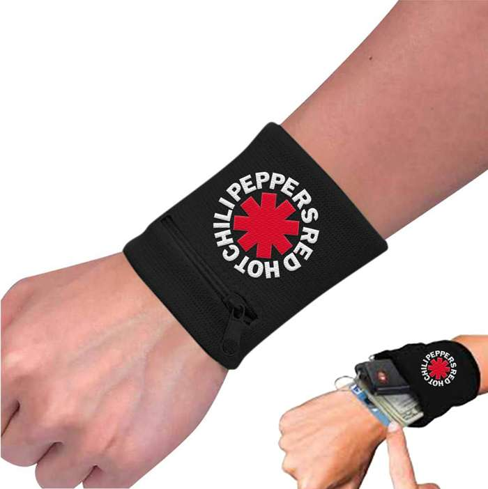 Asterisk Zip Wristband - Red Hot Chili Peppers
