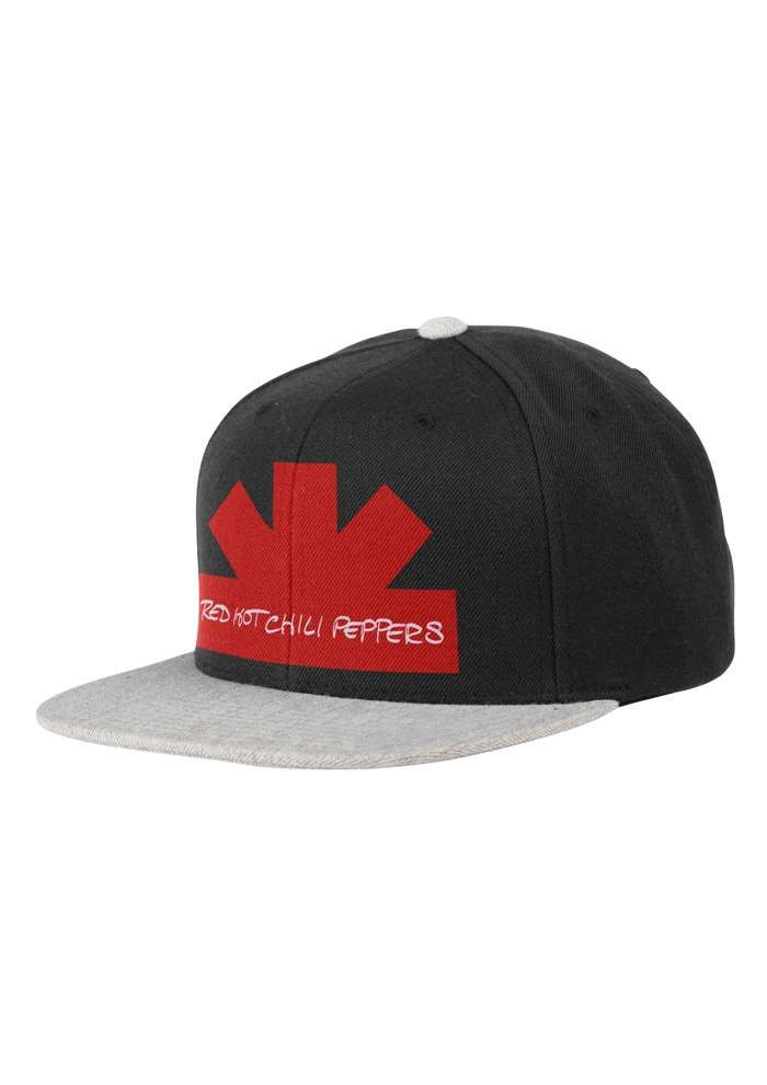 Black and Grey – Snapback Cap - Red Hot Chili Peppers