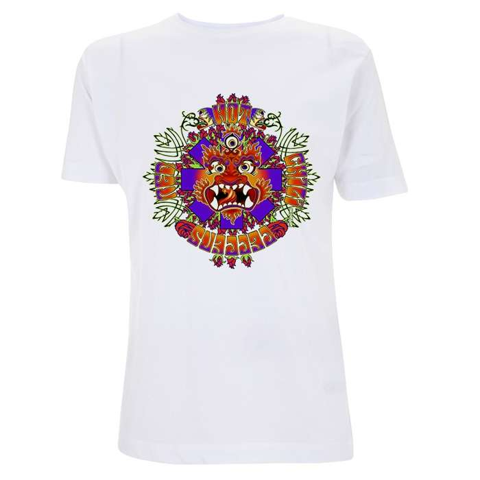 Deity – White Tee - Red Hot Chili Peppers