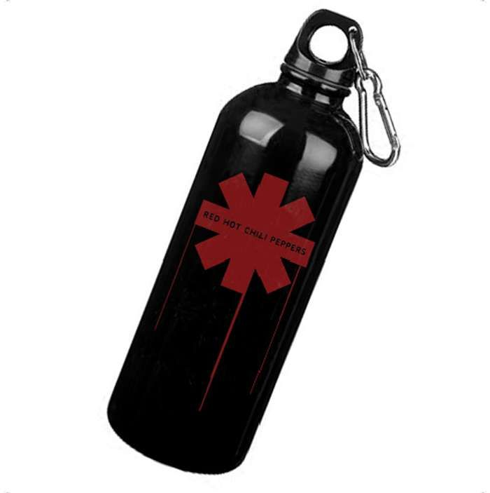 Drip Asterisk - Aluminium Bottle (with carabiner) - Red Hot Chili Peppers