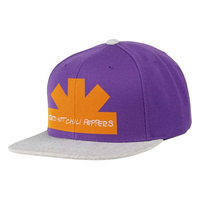 Half asterisk – Purple & Grey Snap Back Cap - Red Hot Chili Peppers