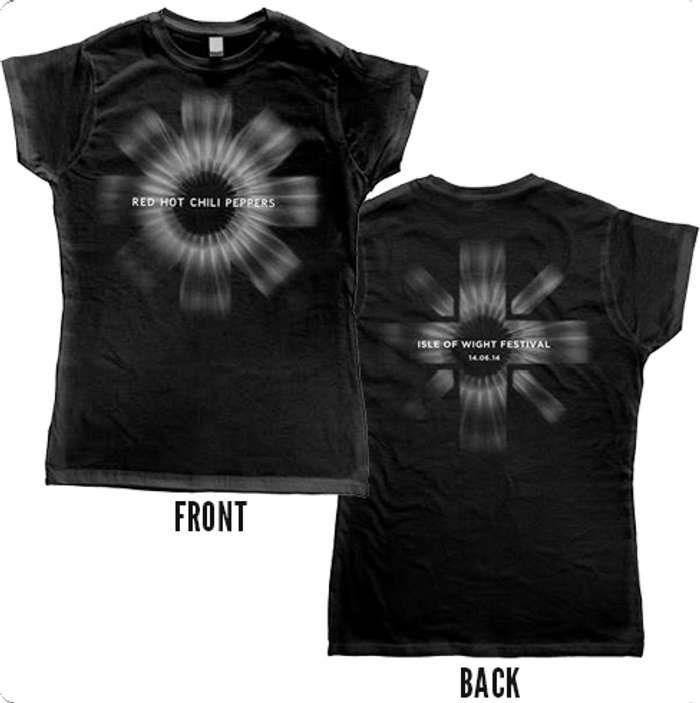 Isle Of Wight Black - Womens Tee - Red Hot Chili Peppers