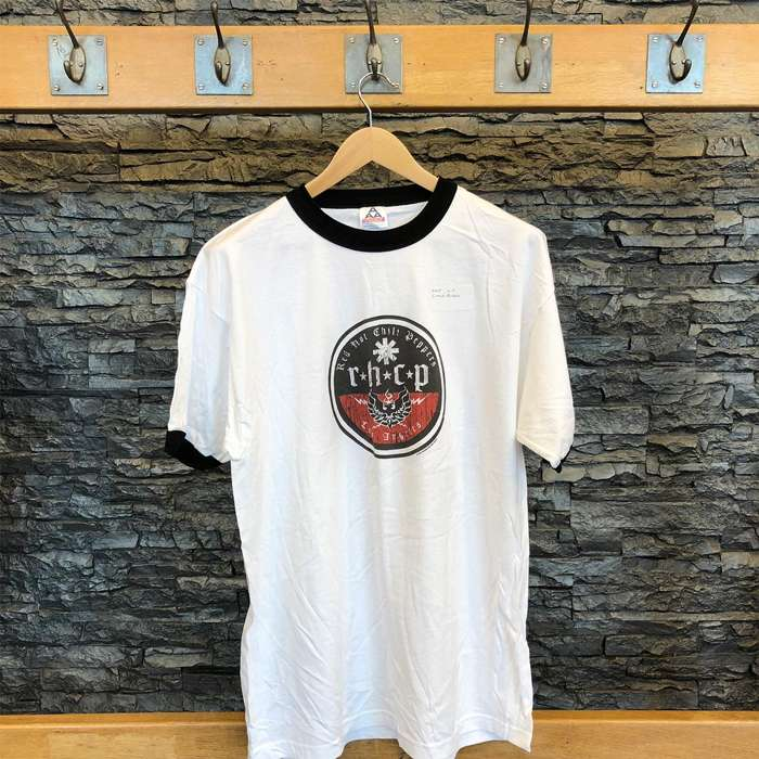 LA Circle - White Ringer Tee - Red Hot Chili Peppers