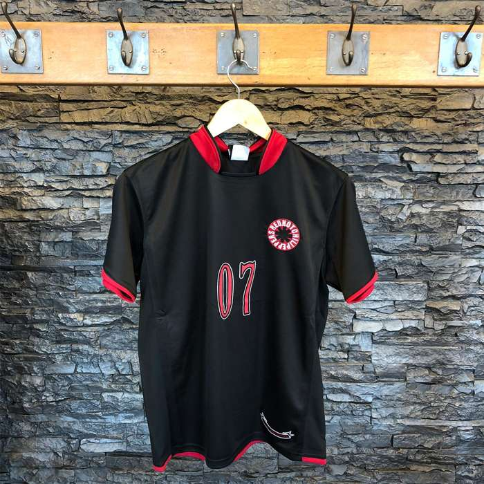 Logo 07 - Football Shirt Black - Red Hot Chili Peppers