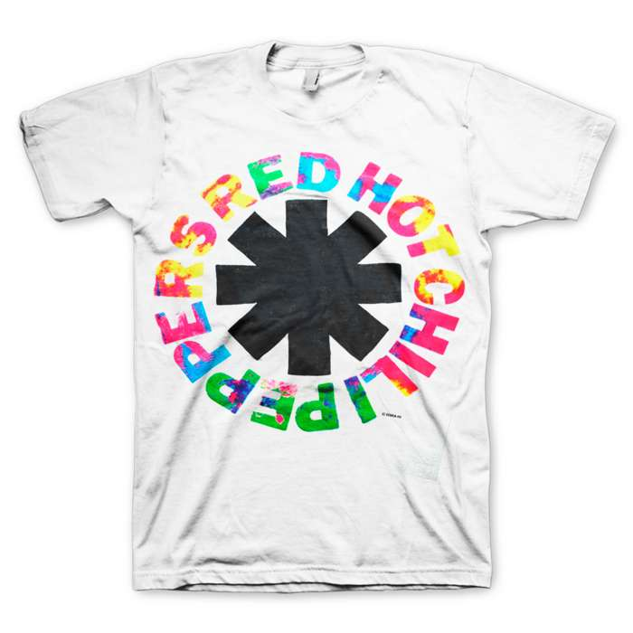 Multicolour – White Tee - Red Hot Chili Peppers