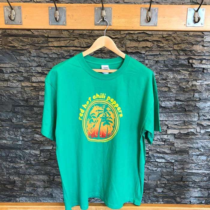Palm Tree - Green Tee - Red Hot Chili Peppers