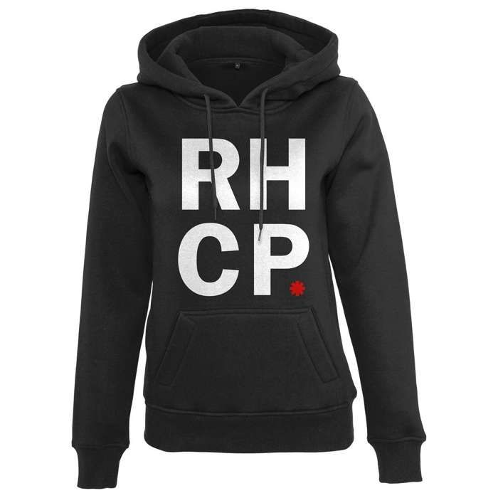 Stacked Asterisk-  Ladies Pullover Hood Black - Red Hot Chili Peppers