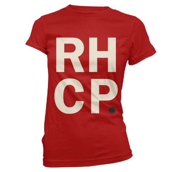 Stacked Red - Ladies Tee - Red Hot Chili Peppers