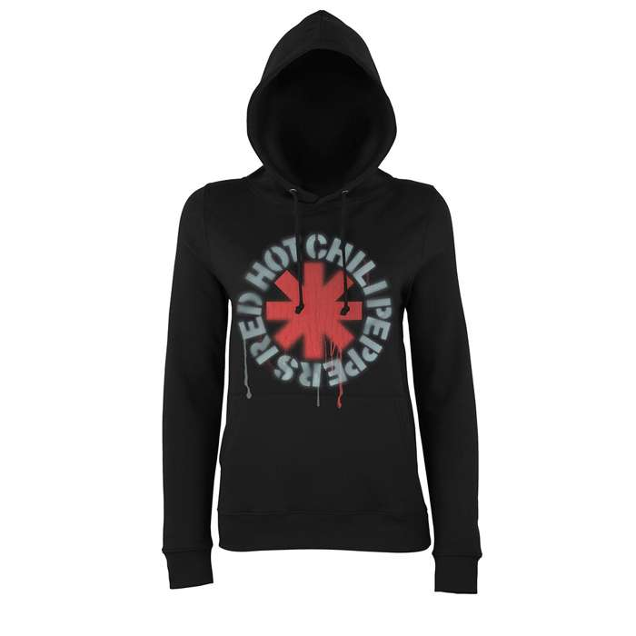 Stencil Asterisk – Girls Hooded Top - Red Hot Chili Peppers