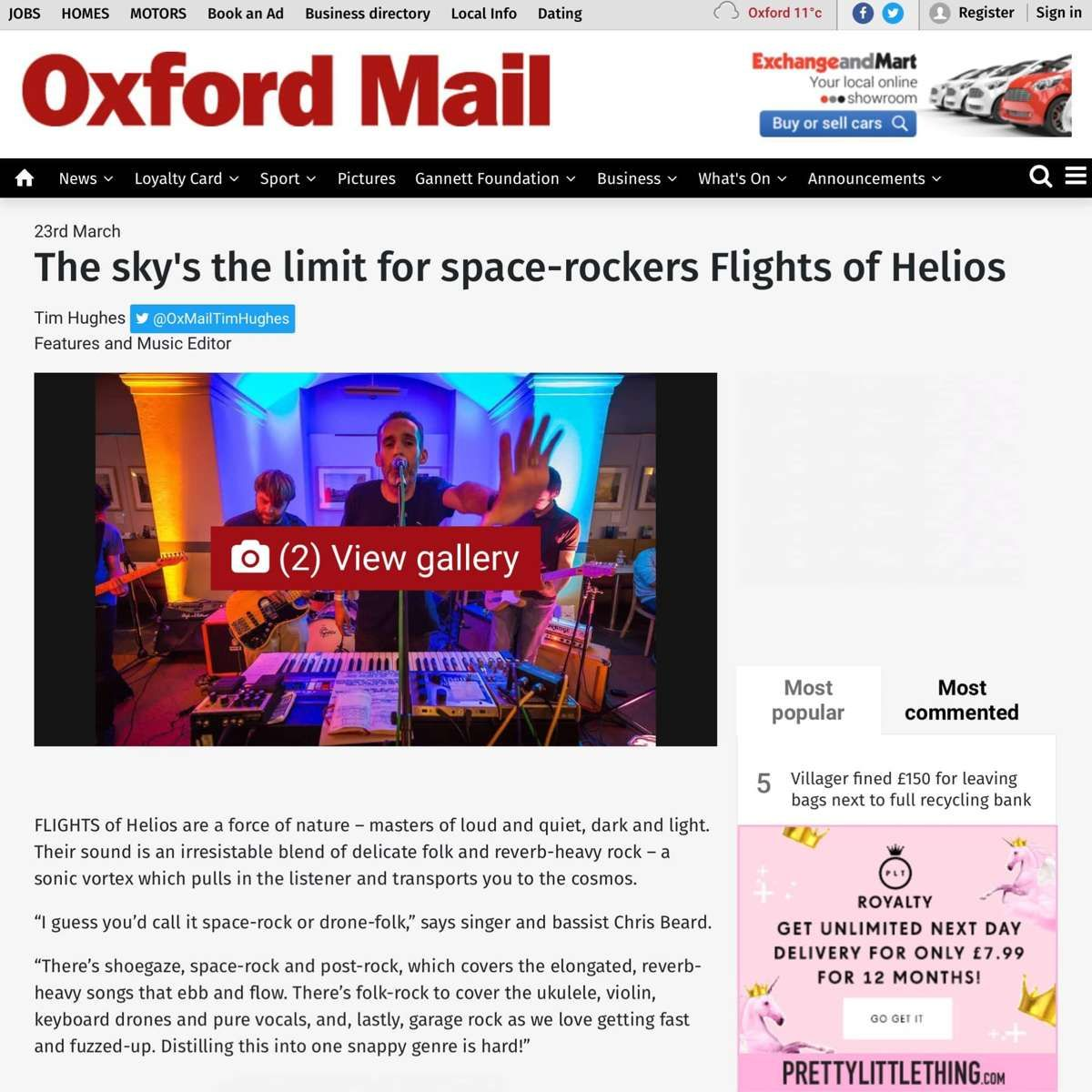 The sky's the limit for space-rockers Flights of Helios