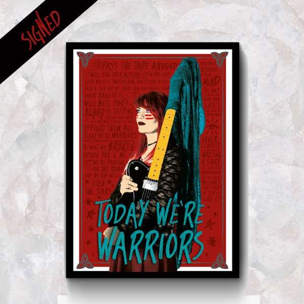 A3 - Today We're Warriors Lyric Art Print (Signed or Unsigned) - REWS