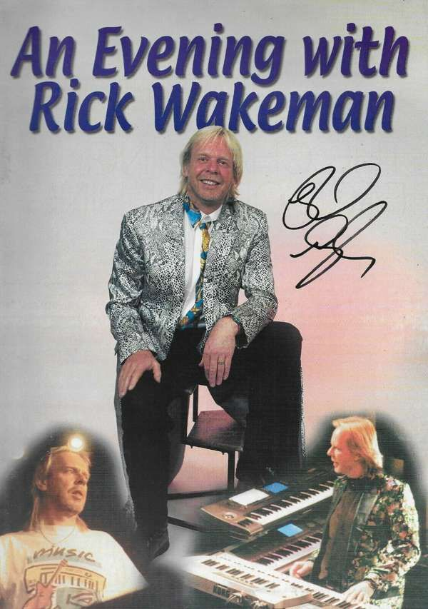 An Evening with Rick Wakeman Tour Programme - signed by Rick - Rick Wakeman Emporium