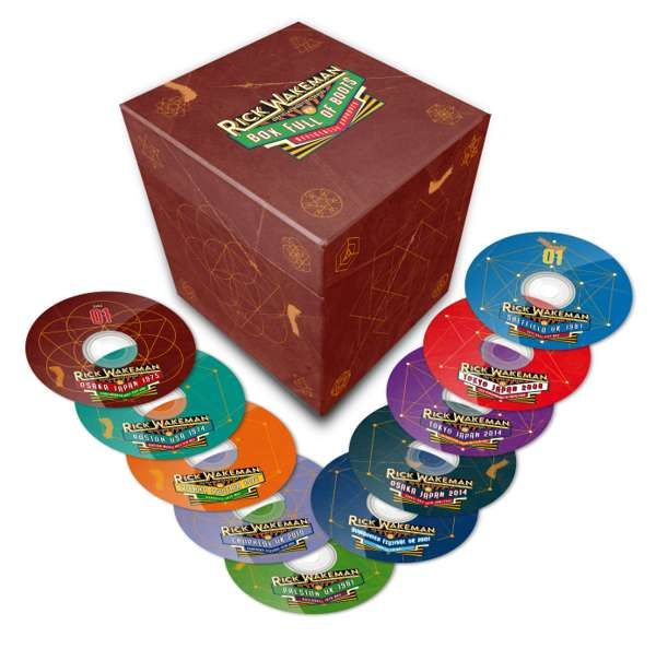 Box Of Boots: Set of 10 Live CDs: Official Bootleg Series - Rick Wakeman Emporium