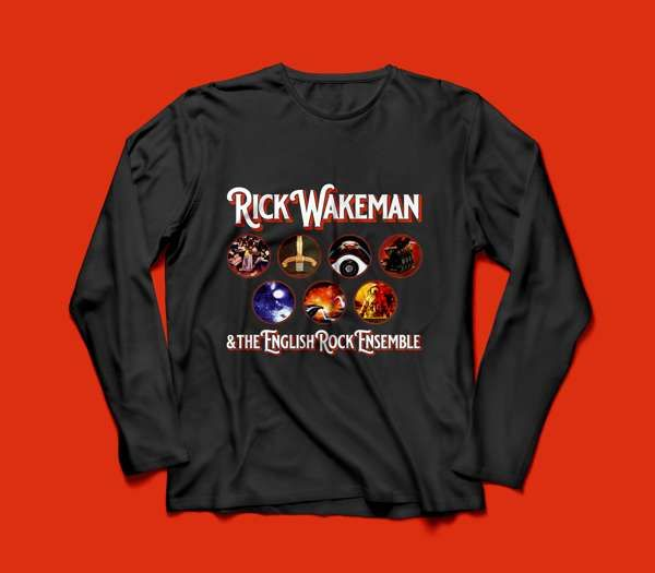 English Rock Ensemble T Shirt, Long Sleeved - Rick Wakeman Emporium