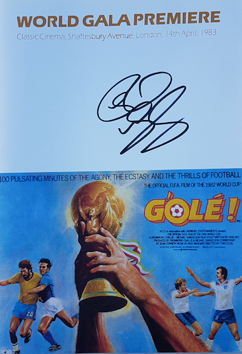 G'ole! Programme from 1983 Film Premiere (reproduction) - signed by Rick - Rick Wakeman Emporium