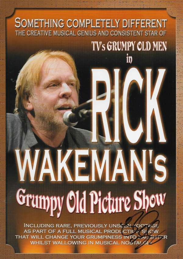 Grumpy Old Picture Show Programme - signed by Rick - Rick Wakeman Emporium