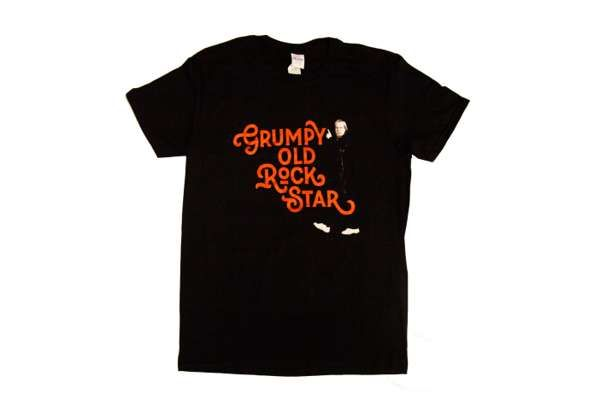 Grumpy Old Rock Star T Shirt with Rick Image from US 2019 tour - Rick Wakeman Emporium