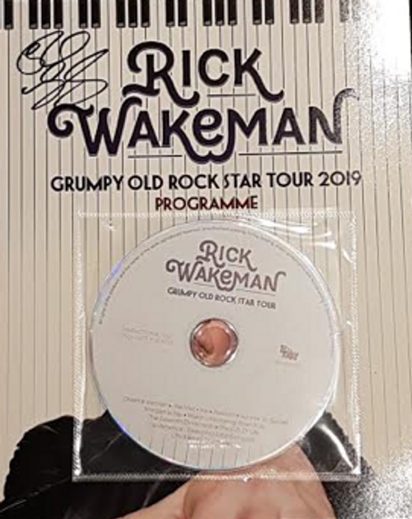 Grumpy Old Rock Star US 2019 Tour programme with covermount CD - Signed by Rick - Rick Wakeman Emporium