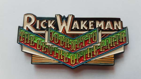Journey To The Centre Of The Earth Enamel Badge - Rick Wakeman Emporium