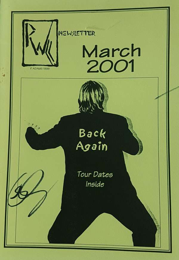 Rare A5 newsletter/booklet dating back to March 2001. Signed by Rick - Rick Wakeman Emporium