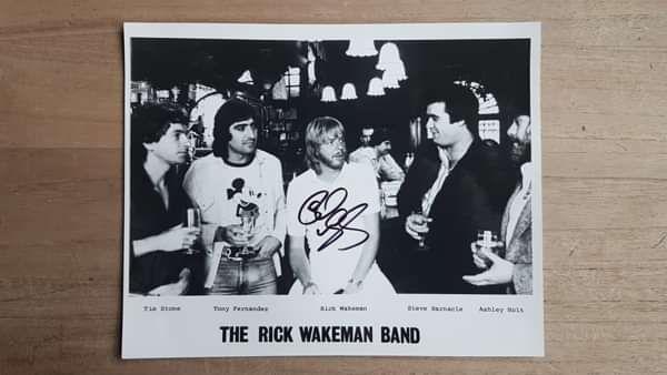 Rick Wakeman Band - rare 1981 publicity photo - signed - Rick Wakeman Emporium