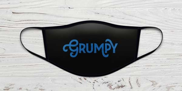 Rick Wakeman Grumpy Face Mask - Rick Wakeman Emporium