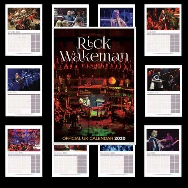 Rick Wakeman Official 2020 Wall Calendar - Rick Wakeman Emporium