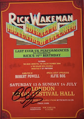 Royal Festival Hall 2019 A5 Handbill  - signed by Rick - Rick Wakeman Emporium