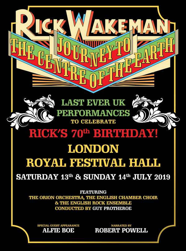 Royal Festival Hall 2019 Journey to the Centre of the Earth Limited  Edition A2 Print - signed by Rick - Rick Wakeman Emporium