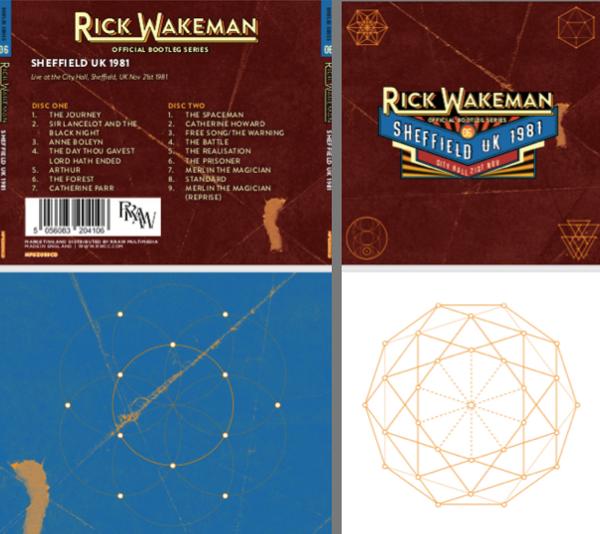 Signed Artwork Proofs, Live at the City Hall Sheffield, UK November 21st 1981 - Rick Wakeman Emporium
