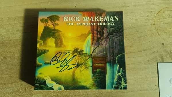 Signed Aspirant Trilogy 3 disc set - Rick Wakeman Emporium