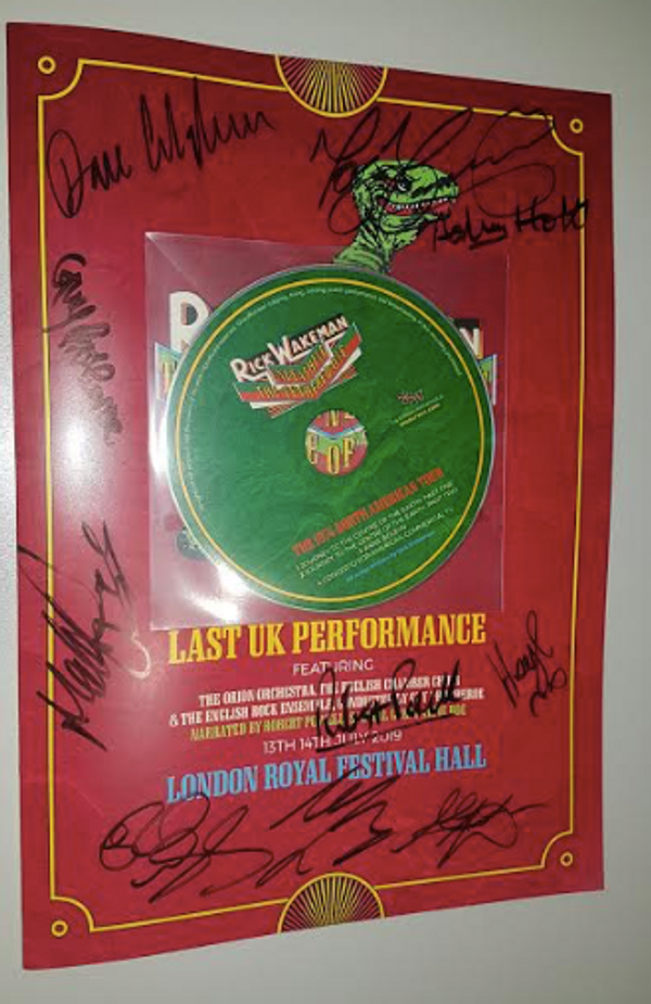 Signed by Rick, all the band + guests; Alfie Boe and Robert Powell - Journey 2019 Programme - - Rick Wakeman Emporium