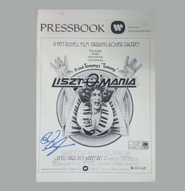 Signed Lisztomamia Press Book - Rick Wakeman Emporium