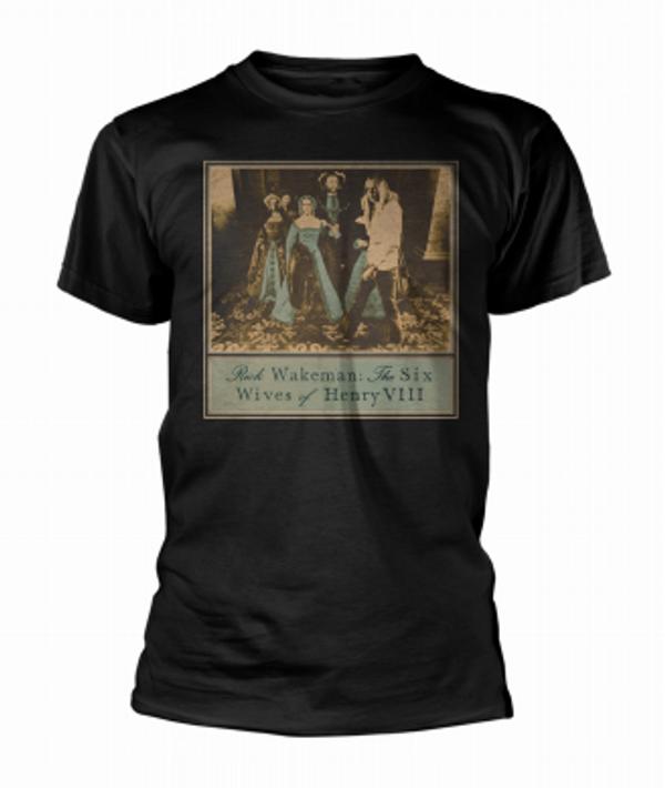 Six Wives Classic Album Short Sleeved T Shirt - Rick Wakeman Emporium
