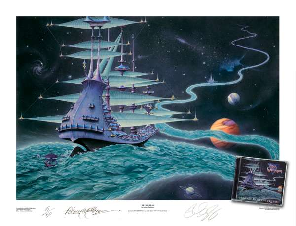 'The Ether Stream' 2000 AD Into The Future co-signed by Rick Wakeman and Rodney Matthews: Limited Edition Art Print - Rick Wakeman Emporium