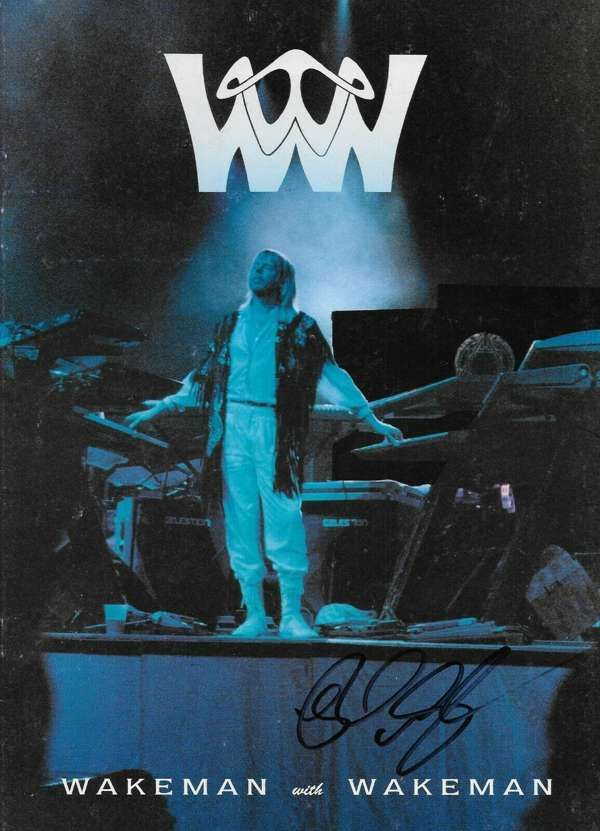 Tour Programe from Wakeman with Wakeman Tour 1996 - signed by Rick - Rick Wakeman Emporium