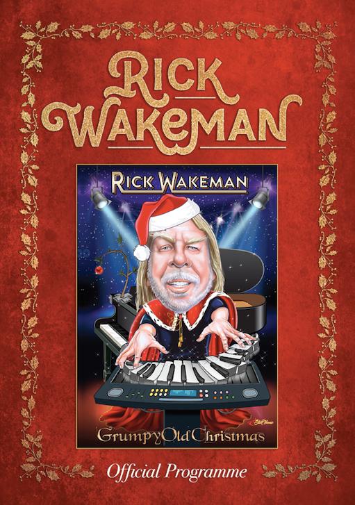 UK Grumpy Christmas Tour 2019 Official Programme - Rick Wakeman Emporium