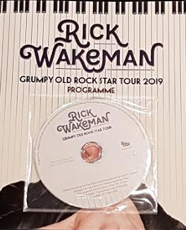 US 2019 Grumpy Old Rock Star Tour programme with covermount CD - Rick Wakeman Emporium