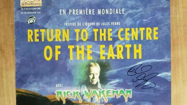 VERY rare, 2001 Return to the Centre of the Earth - Premier Poster - handed signed by Rick - Rick Wakeman Emporium